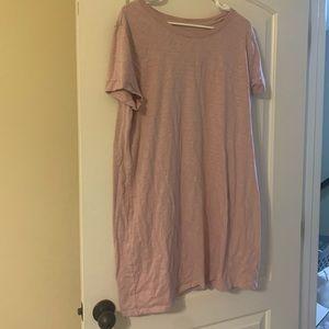 Light Pink T-Shirt Dress